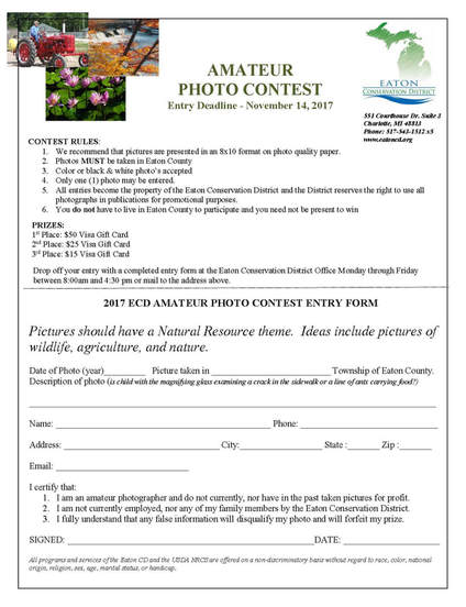 Photo Contest  Eaton Conservation District